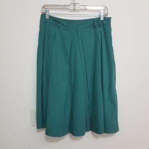 [Zara Basic] Green Pleated Skirt